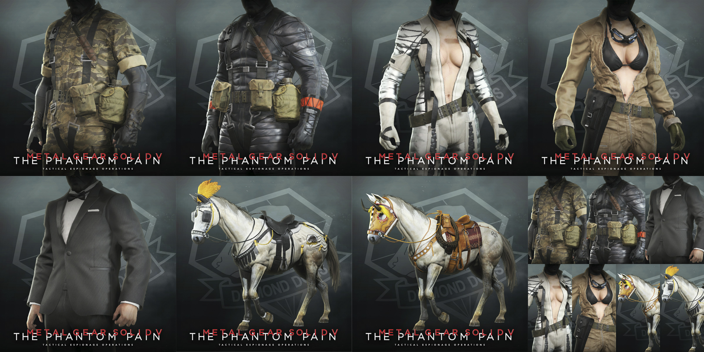 mgsv costume and tack pack now available metal gear network